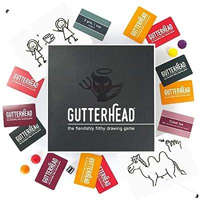 Gutterhead–Le Jeu de Dessin Fiendishly Filthy [Boire et fête Jeu pour Adultes]