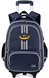 COOFIT School Backpacks with Wheels Trolley Rolling Backpack Children's Backpack Wheeled Backpacks for School