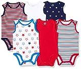 Amazon Essentials - Body senza maniche per bambino, confezione da 6, Uni Americana, US 18M (EU 80-86)