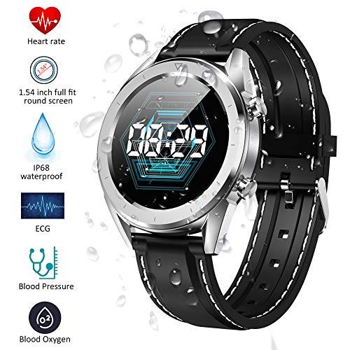 Qimaoo Smartwatch Fitness Watch con Monitor de presión Arterial Monitor de Ritmo cardíaco, Reloj Inteligente IP68 Sport Watch Sport Activity Tracker Monitor de sueño Compatible con iOS Android