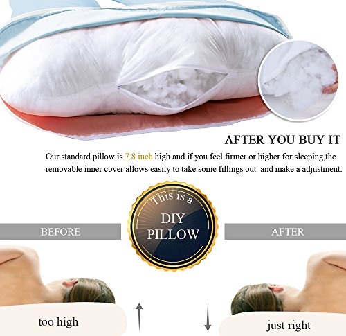 Queen Rose ZZZ's U Shape Pregnancy Support Pillow,Regulating 360°CUDDLE ME Side Sleeping for Maternity Belly/Total Body with 100% Cotton Zipper Removable Cover.