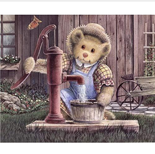 WENYAZ Puzzles Für Erwachsene 1000 Stücke Cartoon Bär Waschen Kleidung Wohnkultur Für Wohnzimmer Kunst Montage Holzpuzzle (Kleidung Puzzle-stück)