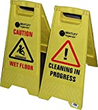 CAUTION WET FLOOR / CAUTION CLEANING IN PROGRESS / a-frame sign - Warning Sign
