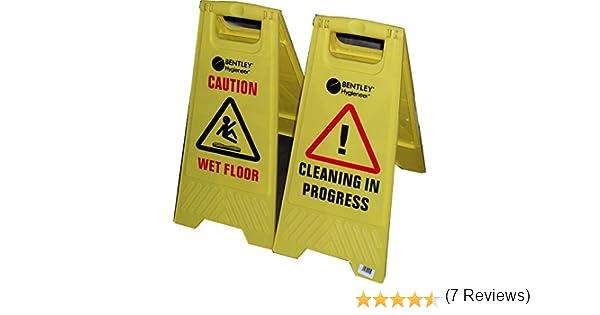 Pavimento bagnato attenzione pavimento bagnato cartello giallo