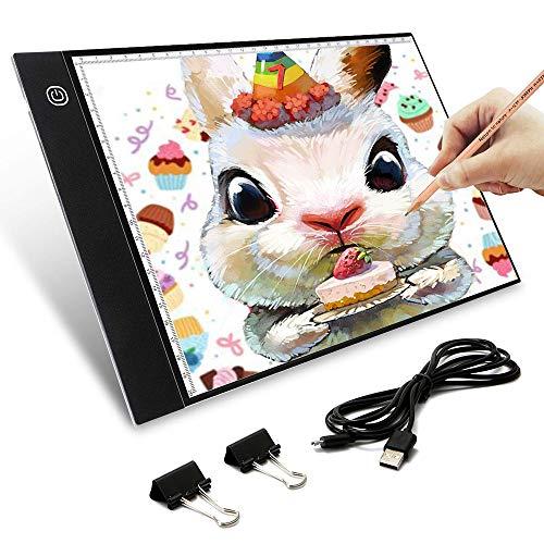 LED verstellbares Licht Box Tracer, Helligkeit Dimmbare Light Box Tracer Digital Tablet mit USB-Kabel Schreiben Malerei Zeichnung ultradünne Tracing Copy Pad Board Sketch (Tablet Sketch Für Zeichnung)