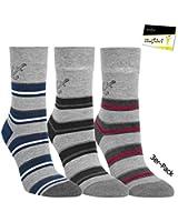 "3er Pack Damen Socken Strümpfe ""Marine Style"" ohne Gummi (RS-11959) - inkl. EveryHead-Hutfibel"