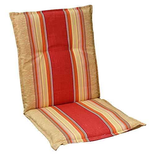 HVI Auflagen für Niedriglehner Sessel Gartenmöbel Gartenstuhl Polster Kissen rot gelb GENF A101
