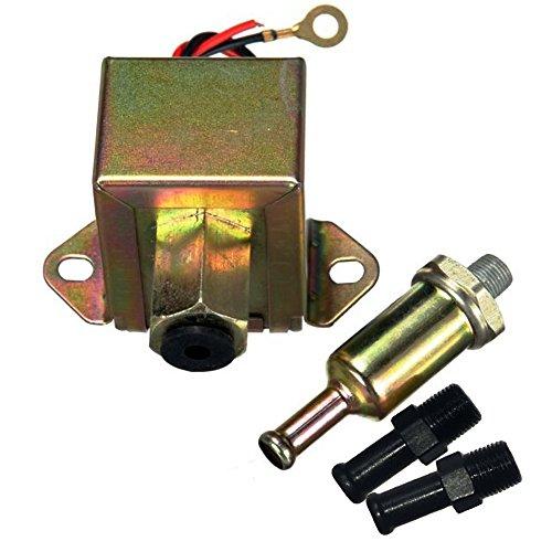 Camecho Bomba de combustible eléctrica y universal de metal, automática, para gasolina...