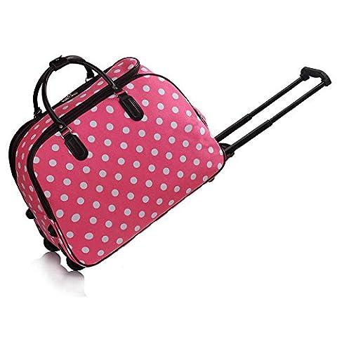Trendstar Ladies Travel Bags HOLDALL Butterfly women hand luggage with wheels Trolley Weekend Handbag