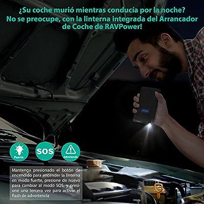 51J%2BzgakF1L. SS416  - Arrancador de Coche 10000mAh Jump Starter de RAVPower con Protección Inteligente para de Motores de Gasolina de 3L, Bateria Externa- Negro