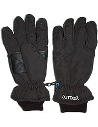 Outburst - Filles et garçons gants hydrofuge, noir