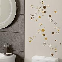58-Bolle da parete per doccia, bagno-Adesivi per decalcomanie, decorazione per auto blu