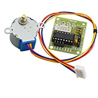 HALJIA 5V 4-Phase Stepper Motor + Driver Board ULN2003 for Arduino