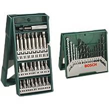 Bosch X-Line - Pack de 25 puntas para atornillar + X-Line - Conjunto de 15 bs para madera, piedra y metal