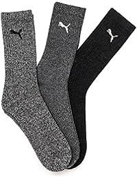 Puma - Calcetines de deporte para hombre, talla 43-46, color gris
