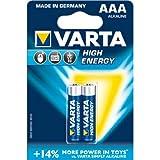 High Energy 2 AAA Size Alkaline Batteries