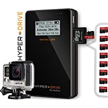 """1000 GB / 1TB HDD HyperDrive for GoPro - Mobile Photo / Video Storage Backup Device and Battery for GoPro and other Action-Cameras, Digital Cameras, Camcorder and Portable USB 3.0 Hard Drive (6,35 cm (2,5"""") SATA HDD, USB 3.0, Backlit-LCD, SDXC Reader, 30MB/s Backup, Up to 350 GB Backup per Battery charge, 3850mAh Battery). HDGP with integrated 1000GB / 1 TB Hard Disk Drive (HDD). Offer of Digitalix24."""