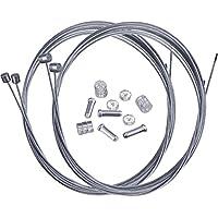 Hotop Cable de Freno de Bicicleta de Montaña Set de Alambre Cable de Engranaje y Abrazaderas de Extremos de Cable