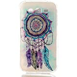 Qiaogle Teléfono Caso - Funda de TPU silicona Carcasa Case Cover para Samsung Galaxy Grand Neo i9060 / Grand Neo Plus i9062 (5.0 Pulgadas) - YH19 / Dream Catcher + Colorful halo