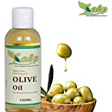 Kalp 100% Pure Cold pressed, Extra Virgin Olive Oil for Skin, Hair and Massage (100ml)