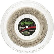 Prince tripa sintética con Duraflex 16G Blanco carrete de cuerda para raqueta de tenis - 7J502010080, Blanco