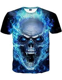 Styledress Herren T-Shirt Slim Fit 3D-Druck Tees Sweatshirt Poloshirts Tee  Kurzarm Top T-Shirts Polo Shirt Kurze… 6f514cfecc