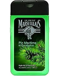 Le Petit Marseillais Gel Douche Homme Corps et Cheveux Pin Maritime & Eucalyptus Flacon 250 ml - Lot de 3