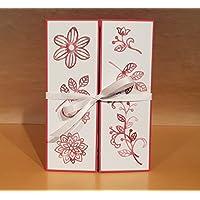 XL Karte DIN A5 Geburtstag Hochzeit Handarbeit, individueller Text möglich