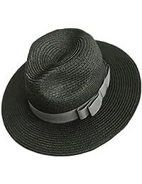 Sombrero Panama Plegable - Dizoe Gorras Mujer Verano para el Sol Floppy de Playa / Viajes / Vacaciones