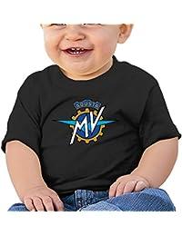 Unisex MV Agusta Logotipo Infantil–Camiseta de Manga Corta para bebé