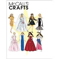 McCall's 6232 - Patrón de costura para confeccionar vestidos de muñecas (8 modelos diferentes, 29 cm, en inglés y alemán)
