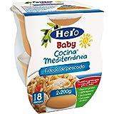 Hero Baby Cocina Mediterránea Mediterránea Fideuá de Pescado, Tarrina de Plástico - Paquete de 2 x 200 gr - Total: 400 gr