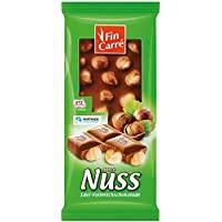 Fin Carre Precious milk chocolate with whole hazelnuts (10 x 100g) - German product