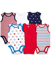 Amazon Essentials 6-Pack Sleeveless Bodysuits Unisex-Bimbi 0-24