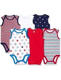 Amazon Essentials Unisex Baby 6-Pack Sleeveless Bodysuits