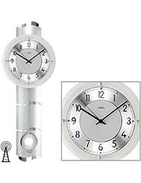 Weitere Uhren Ams 5883 Wanduhr Funk Mineralglas Mit Messingfarben Lackierten Metallstäben