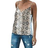 Luckycat Camisetas de Tirantes para Mujer, Mujeres Estampado de Leopardo Sexy de Hombros sin Mangas del Tanque Tops Chaleco Camiseta Blusa Crop Tops