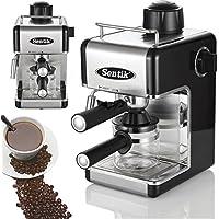 Sentik® Professional Espresso Cappuccino Coffee Maker Machine Home - Office (Black)