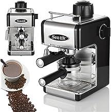 Cafetera de espresso o capuchino, eléctrica y profesional, para el hogar o la oficina