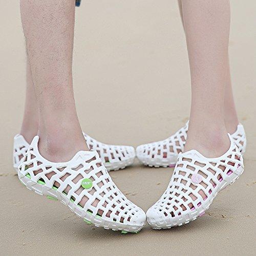 Cystyle Damen Herren Strand Aquaschuhe Wasserschuhe Sandalen Outdoor Sommer Schuhe Weiß / Grün