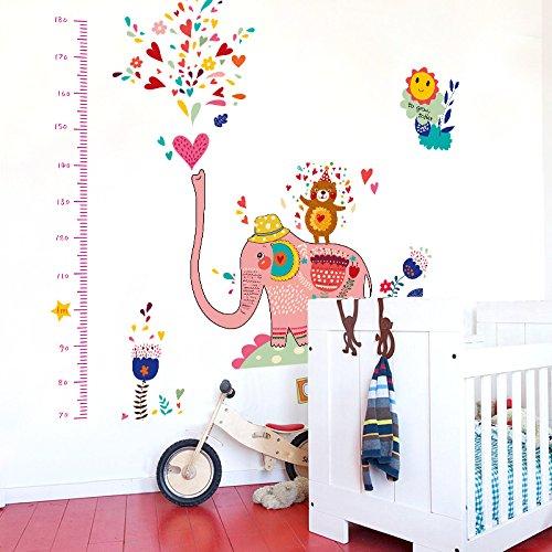 Wandbild ZOZOSO Indische Art-Wandaufkleber-Elefant-Spritzkabinen-Höhen-Aufkleber