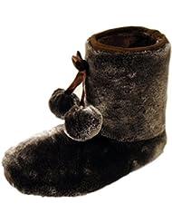 Dunlop-mocassins femme bree fellig pantoufles chaussons doux