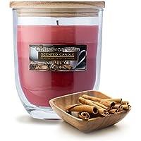 Supreme Lights Große Kerzen Duft im Glas Cinnamon Chai Ombre Windlicht mit Holzdeckel 125Std 22oz (Rot - 623g) preisvergleich bei billige-tabletten.eu