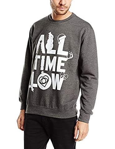 Kunststoff Head Herren 's All Time Low Christmas Logo CSW – Lange Ärmel Sweatshirt Gr. Medium, Dunkelgrau