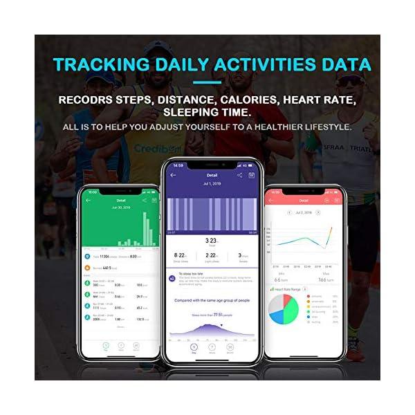 Pulsera Actividad Hombre Mujer - Pulsera Actividad Inteligente Reloj GPS Temporizador Podómetro Pulsómetro Impermeable IP68 Pulsera Deportiva Smartwatch Para Xiaomi Samsung Huawei Android iPhone iOS 7