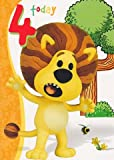 Used, Ra Ra The Noisy Lion - 4th Birthday Card for sale  Delivered anywhere in UK