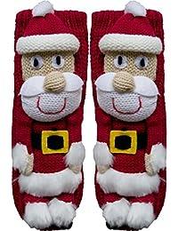 1 Paar Homesockes mit Wintermotiv Weihnacht