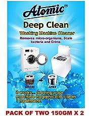 Atomic Washing Machine Cleaner Powder for Samsung, Whirlpool, Lg, Ifb, Bosch, Haier, Godrej (300g, White)