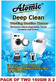 Atomic Washing Machine Cleaner Powder for Perfectly Cleaning of Tub/Drum -[Tested By ACPL LONDON] 150 GM X 2=3