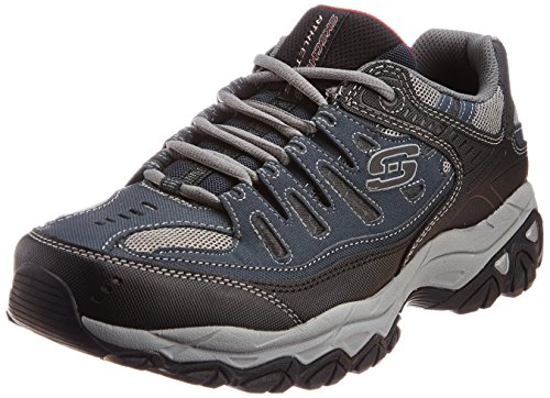 Sneaker Skechers Sport Afterburn mousse à mémoire de lacets Navy